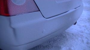 Chery Fora датчики парковки в снегу