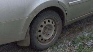 Колесо со старым штампованным диском